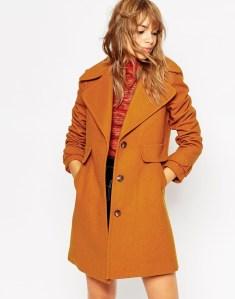 Manteau à col style 70's
