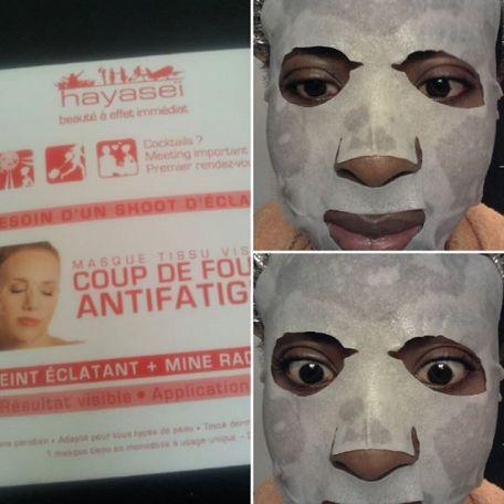 Bon week-end à tous!! J'en profite pour tester le masque tissu anti-fatigue de la marque Hayaseï : soin qui se trouvait dans la @glossybox_fr de mars. Bientôt une revue sur le blog @lefourretoutdegayou #hayasei  #masquetissu #facemask #antifatigue #beauté #beauty #soinvisage #glossybox #beautybox #blog