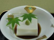 Du tofu avec du wasabi