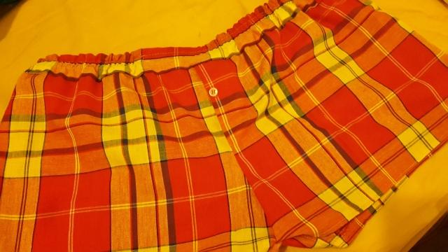 caleçon pour homme en tissu madras